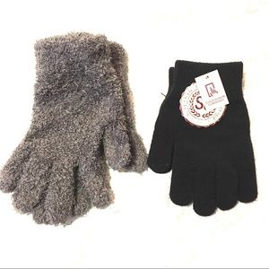 NWT SO & Mixit Stretch Adult Gloves Gray & Black